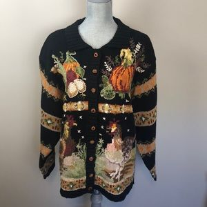 VINTAGE 1998 Chunky Festive Autumn Knit Sweater